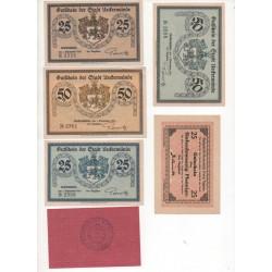 NOTGELD  UEKERMÜNDE - 7 different notes (U004)