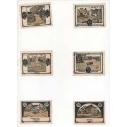 NOTGELD  TANGSTEDT - 6 different notes (T003)