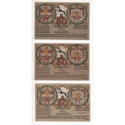 NOTGELD  TETTNANG - 3 different notes (T010)