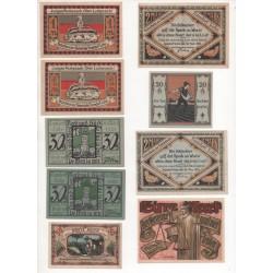 NOTGELD  TONNDORF - 10 different notes - VARIANTE (T025)