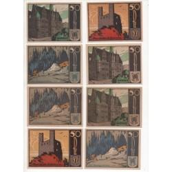 NOTGELD  SAAFELD - 10 different notes - 5 & 6 serie number (S001)