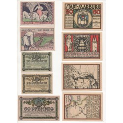 NOTGELD SAARBURG SALZIGBAD - 11 different notes (S006)