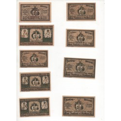 NOTGELD  SACHSA BAD - 9 different notes - different number's color (S007)