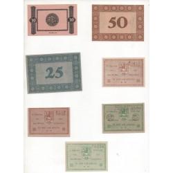 NOTGELD  SHAFSTADT SCHALKAU - 7 different notes (S023)