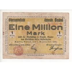 NOTGELD  SCHWAB - 1 million mark (S075)