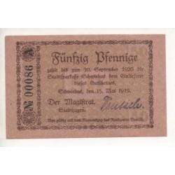 NOTGELD  SCHWIEBUS - 50 pfennig - small number (S086)