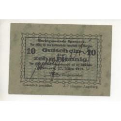 NOTGELD SPARNECK - 10 pfennig - 1917 (S129)