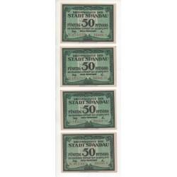 NOTGELD  SPAUDAU - 4 different notes (S130)