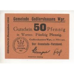 NOTGELD STRASBURG - 50 pfennig - RARE - 1917 (S137)