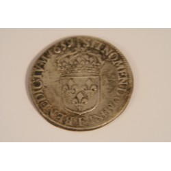 DEMI ECU LOUIS XIV 1659 F ANGERS MECHE LONGUE