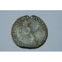 QUART ECU HENRI III 1589 H LA ROCHELLE