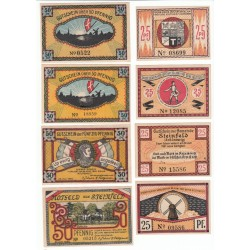 NOTGELD  STEINFELD - 14 different notes - 1 without number & 1 small (S178)