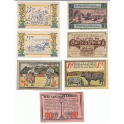 NOTGELD  SEETH SELSINGEN STAUFFEN - 7 different notes (S090 B)