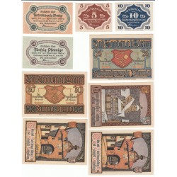 NOTGELD  SELTENBERG SOODEN BAD - 10 different notes - VARIANTE (S090)