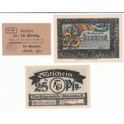 NOTGELD  STAMMBACH STRELNO - 8 different notes (S181)