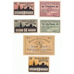 NOTGELD STADE STRASBURG - 6 different notes (S193)