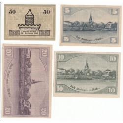 NOTGELD  UBIGAU UEDINGEN - 4 different notes (U002)