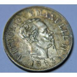 ITALIE 50 CENTISEMI 1863 M MILANO