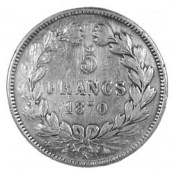 5 FRANCS CERES SANS LEGENDE  1870 K