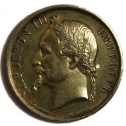Medaille Napoléon III Argent doré Exposition DOUAI 1866