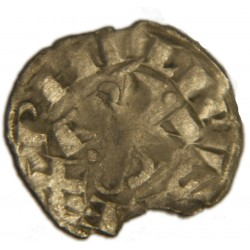 "PHILIPPE II dit ""PHILIPPE AUGUSTE"" Denier parisis PERONNE 1191-99"