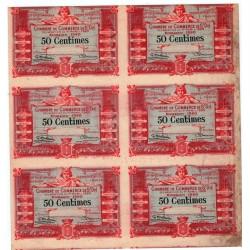 Planche Epreuve Chambre de Commerce St Dié 50 centimes 1920
