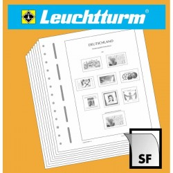LEUCHTTURM feuilles complémentaires SF France Timbres autocollants p.clients profess. 2014