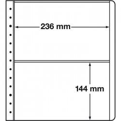 feuilles neutres LB, 2 compartiments, 236x144 mm