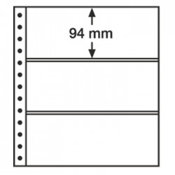 Leuchtturm Feuilles R, 3 compartiments, noir