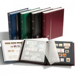 Classeur COMFORT  A4 Bleu, 32 pages noires, couverture ouatinée simili cuir