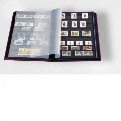 Classeur COMFORT A4, 32 pages noires, couverture ouatinée simili cuir Bleue