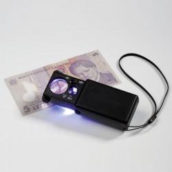 Leuchtturm Loupe à sortir de son étui avec LED, grossissement 10x et 30x, noir