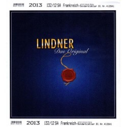 Lindner FEUILLES COMPLEMENTAIRES 2013  FRANCE TIMBRES AUTOCOLLANTS