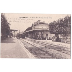 CPA (77) COULOMMIERS - La Gare - Arrivée d'un Train de Paris