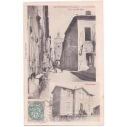 CPA (84) SAINTE CECILE - La Grande Rue Tour de l'Horloge