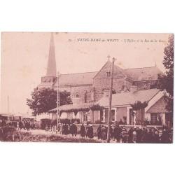 CPA (85) NOTRE DAME DE MONTS - L'Eglise et la Rue de la Gare