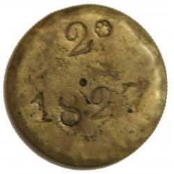 BRESIL - BRAZIL JETON 2 REIS 1827