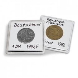 capsules QUADRUM NOTE pour pièces de monnaie de diamètre intérieur 37  mm, blanc