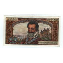 50 Nouveaux Francs Henri IV 06-07-1961 superbe + F58.6