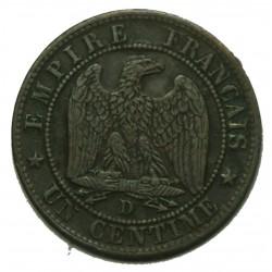 NAPOLEON III 1 Centime 1854 D - TB++