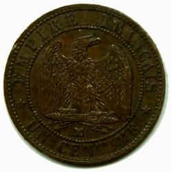 NAPOLEON III 1 Centime 1856 MA PCGS AU58