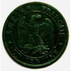 NAPOLEON III 1 Centime 1857 W TTB