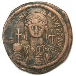 BYSANTINE - Justinien I (527-565) Follis, Constantinople