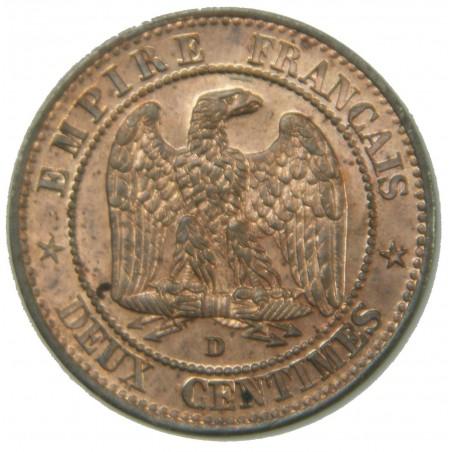 SPLENDIDE - 2 Centimes 1853 d  (petit) PCGS MS64RB