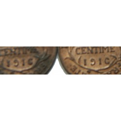 D. DUPUIS - 1 centime 1911, 12, 13, 14, 16 19, 20 et fauté