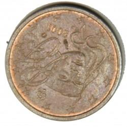 FRANCE EURO - 2 Centimes 2001 presque Frappe monnaie, désaxée 160°
