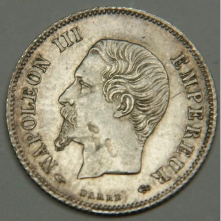 NAPOLEON III 20 Centimes 1858 A tête nue PCGS AU Détails