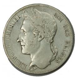 BELGIQUE - LEOPOLD I er 5 Francs 1849 TTB
