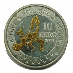 BELGIQUE - 10 EURO 2011 PICARD 7548 EX. - BE -