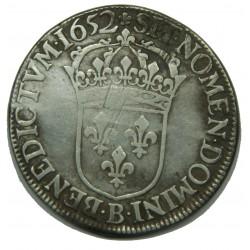 ECU LOUIS XIV 1652 B ROUEN MECHE LONGUE